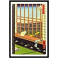 'Window Cat on Japan' Framed Art Print