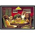 C.M. Coolidge 'Dog Poker' Framed Art Print