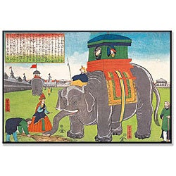 'Elephant Lunch - Japan' Gallery-wrapped Canvas Art
