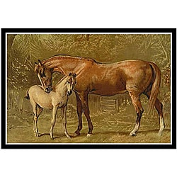Alfred Conbould 'Book of the Horse' Framed Abstract Art Print