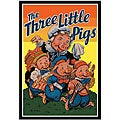 Milo Winter 'Three Little Pigs' Framed Art Print
