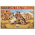 'Irish Pig Tail Tobacco' Gallery-wrapped Canvas Art
