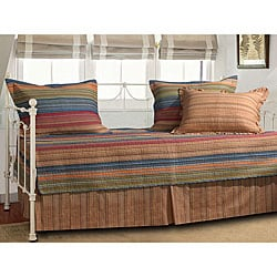 Greenland Home Fashions Katy 5-piece Striped Cotton/Microfiber Polyester Daybed Set