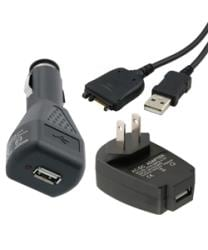 Eforcity USB Cable and Car/ Home Charger Adapters for Palm Treo/ Centro
