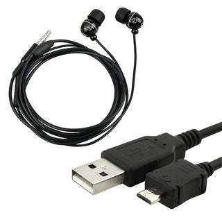 Headset and USB Data Cable for LG Dare