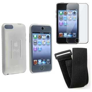 Eforcity Clear Silicone Skin + Film + Armband for iPod Touch 3rd gen