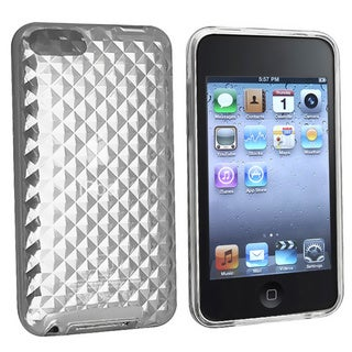 INSTEN Clear Diamond TPU Rubber Skin iPod Case Cover for iPod Touch Gen 2/ 3