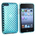 Eforcity Clear Blue Diamond TPU Rubber Case for iPod Touch Gen 2/3