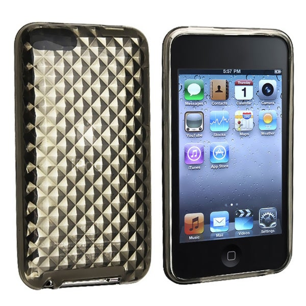 Eforcity Clear Smoke Diamond TPU Skin Case for iPod Touch Gen 2/3