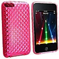 Eforcity Clear Hot Pink Diamond TPU Rubber Case for iPod Touch Gen 2/3