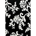 nuLOOM Hand-tufted Pino Collection Peonies Black Rug (5' x 8')