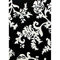 nuLOOM Hand-tufted Pino Collection Peonies Black Rug (7'6 x 9'6)