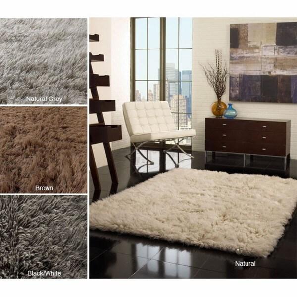 Nuloom Hand Woven Alexa Flokati Wool Shag Rug 8 X 10