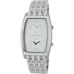 Roberto Bianci Men's Silver Dial Dual Time Zone Watch