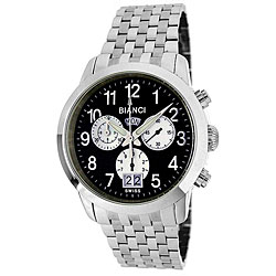 Roberto Bianci Men's 'Eleganza' Chronograph Black Dial Watch