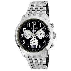 Roberto Bianci Men's 'Eleganza' Chronograph Black Dial Watch