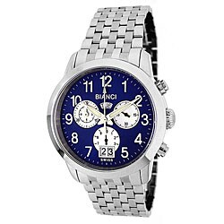 Roberto Bianci Men's 'Eleganza' Chronograph Blue Dial Watch