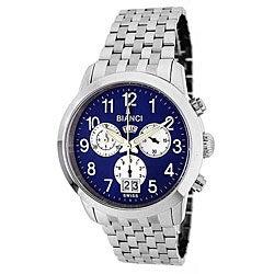 Roberto Bianci Men's 'Eleganza' Chronograph Blue Dial Watch