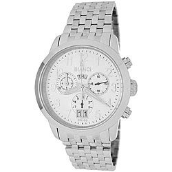 Roberto Bianci Men's 'Eleganza' Chronograph White Dial Watch