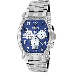 Roberto Bianci Men's 'Eleganza' Diamond-accent Stainless Steel Chronograph Watch
