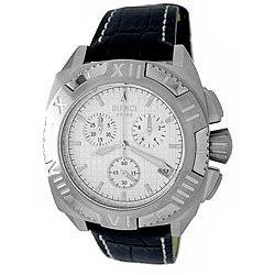 Roberto Bianci Men's 'Quadra' White Dial Chronograph Watch
