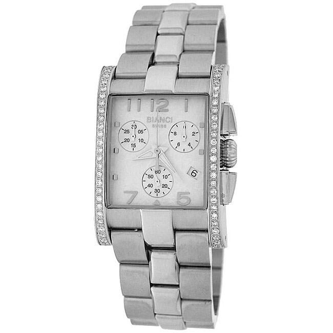 Roberto Bianci Unisex Diamond Chronograph Watch in Silver