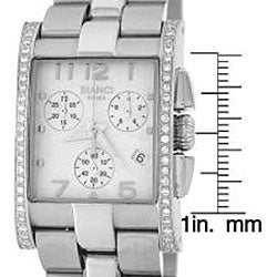 Roberto Bianci Unisex Diamond Chronograph Watch in Silver