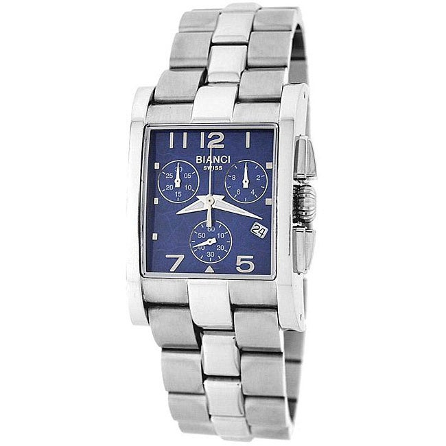 Roberto Bianci Men's Swiss Chronograph Watch with Blue Dial