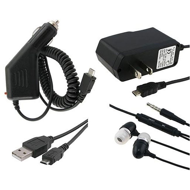 INSTEN Headset/ Cable/ Car/ Travel Chargers for Blackberry Bold