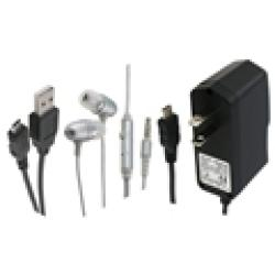 INSTEN Headset/ USB Cable/ Wall Charger for Blackberry Curve 8530 Aries