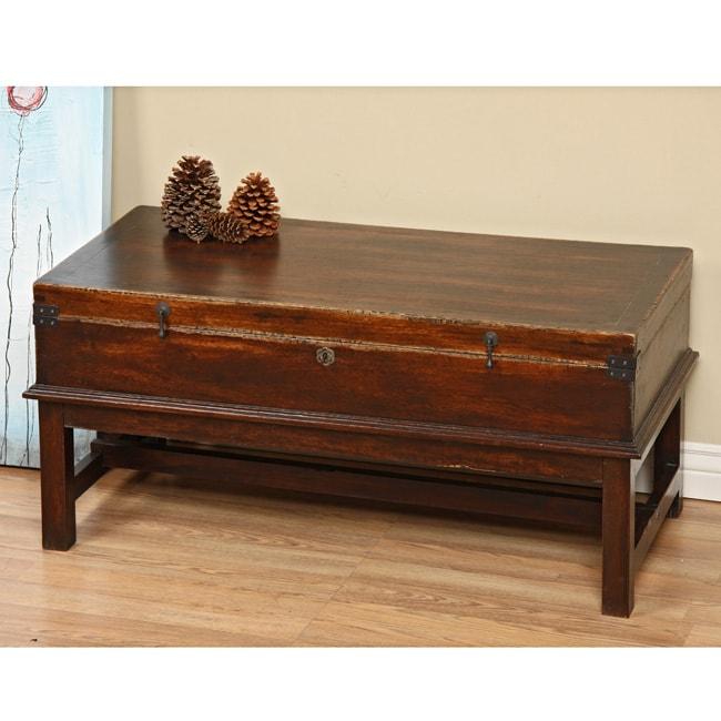 Tropical Hardwood Indigo Coffee Table Indonesia 12537717 Shopping Top