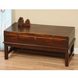 Tropical Hardwood Indigo Coffee Table (Indonesia)