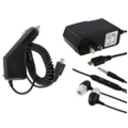 INSTEN Headset and Travel/ Car Chargers for Blackberry 8530 Bold/ 9700