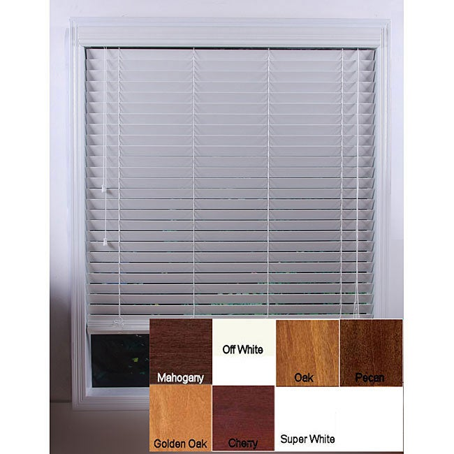 Customized Real Wood 58-inch Window Blinds