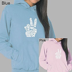 Los Angeles Pop Art Women's Peace Fingers Hoodie