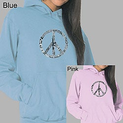 Los Angeles Pop Art Women's Peace Love Music Hoodie