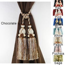 Lights Out Knitted Duel-head Curtain Tassel Tie-backs (Set of 2)