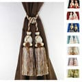 Knitted Duel-head Curtain Tassel Tie-backs (Set of 2)
