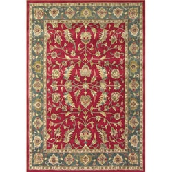 Hand-tufted Delhi Burgundy New Zealand Wool Rug (8' x 10')