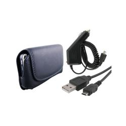 Eforcity Leather Case/USB Cable/Car Charger for LG Xenon GR500 Cell Phones