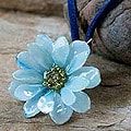 Natural Flower 'World of Blue' Necklace (Thailand)