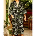 Cotton 'Forest Bamboo' Men's Batik Robe (Indonesia)