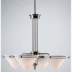 Vegas 4-light Steel Contemporary Chandelier