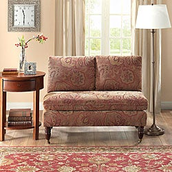 Bordeaux Nutmeg Paisley Loveseat