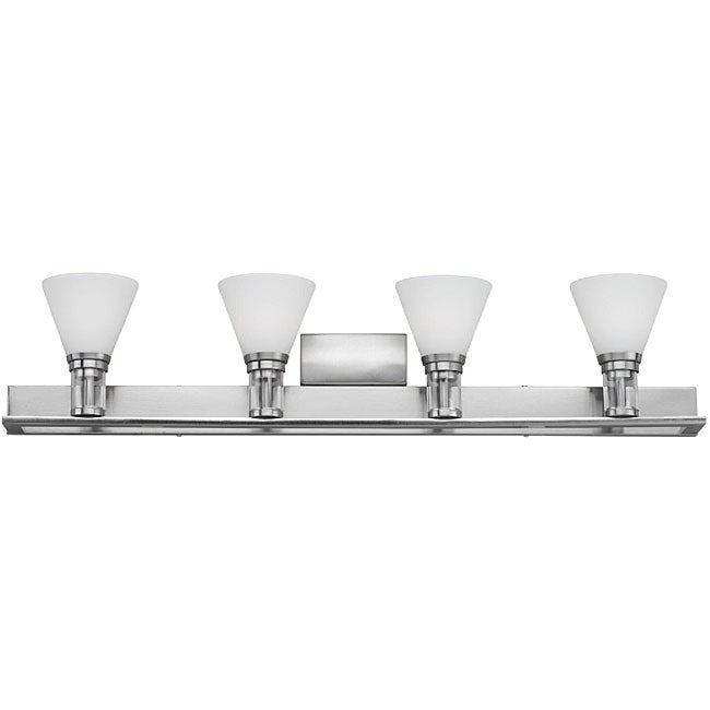 Haven Bath 4-light Satin Nickel Bathroom Vanity Light - 12541757 - Overstock.com Shopping - Top ...