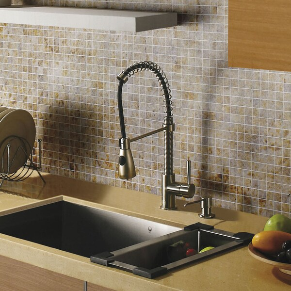 VIGO Retractable Spout Stainless Steel Pull-Out Spray Kitchen Faucet