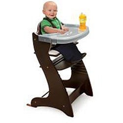 Badger Basket Embassy Wooden High Chair in Espresso