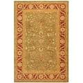 Safavieh Handmade Ancestry Green/ Red Wool Rug (9' x 12')