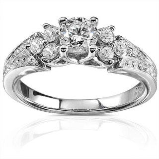 Annello 14k Gold 7/8ct TDW Round-Cut Diamond Ring (H-I, I1-I2)