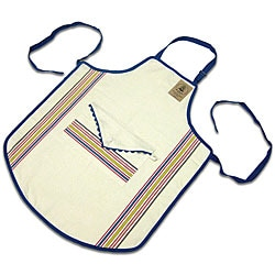 Vintage Stripe Cotton Bib Apron